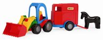 Attēls Wader traktors ar piekabi zirgam Art. 35200