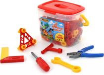 Изображение Набор инструментов для детей (129 элементoв)